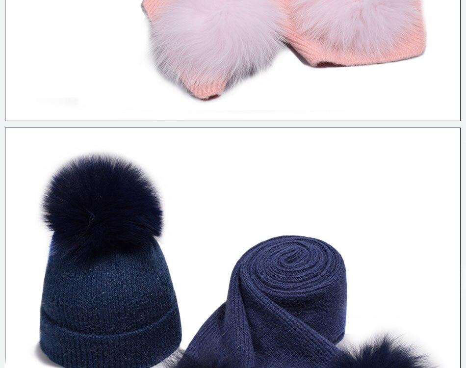 قبعة ووشاح للفتيات 16