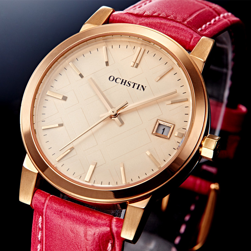 Lady Direct Selling Quartz Ladies Wristwatch Ochstin Brand Luxury Waterproof Leather Watch Women Dress Watches Reloj Mujer 2017<br>