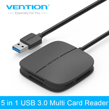 Vention All in 1 USB 3.0 Card Reader Multi Memory Card Reader USB for TF for SD for CF for MS Card Adapter Support 256G(China)