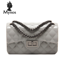 MYNOS Luxury Fashion Brand Designer Handbags Small PVC Jelly Women Bags Ladies Candy  Cover Crossbody Bags For Women SAC A MAIN