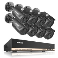 ANNKE Home Security HD 1080N 720P 8CH DVR Set 8PCS 1200TVL 1.0MP AHD CCTV Camera System 8 Channel Video Surveillance Kits