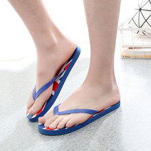 2017 New Fashion Flag Designer Flip Flops Men Comfortable Flat Sandals Summer Casual Beach Shoes Slippers Sandalias Hombre O2319