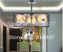 New Modern Crystal lamp and Drum Chandelier Ceiling light Fixture Style 3 BALL EMS FREE SHIPPING