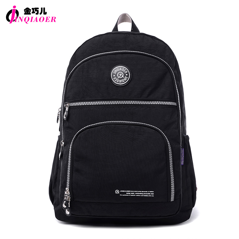 JINQIAOER mochila feminina Original Brand Designer Fashion Women Backpack Waterproof Nylon Knapsack School Bags For Teens Girls <br><br>Aliexpress
