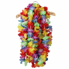 Free Shipping Hawaiian Tropical Party Hen Night Fancy Dress Necklace 10 Leis Flower Garlands Hot Sell