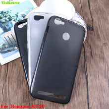 Yisisource Case For Homtom HT50 Soft Silicone Case Screen Protector Matte Case Back Cover For Homtom HT50 CellPhone Bag Case