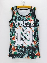 2016 American & European fashion Number print casual tanks women summer Tanks & Camis breathable fabric clothing wholesale(China)