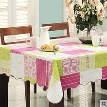 Flannel Backed Vinyl PVC Tablecloth Plastic Waterproof Table Cloth Spread Cover Rectangular Square 106-203cm 4 Sizes(China)