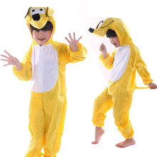 Children Kids Baby Boy Cartoon Animal Coat Jumpsuit Pajama Yellow Dog Costume Performance Suit Children's Day Costumes