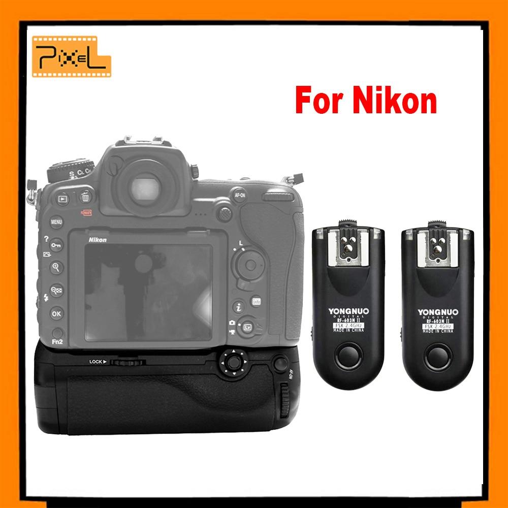 PIXEL Vertax D-17 Battery Grip D17 for Nikon D500 DSLR Camera +Yongnuo RF-603NII-N1 Flash Trigger for Nikon D800 D600 D610 D7200<br><br>Aliexpress