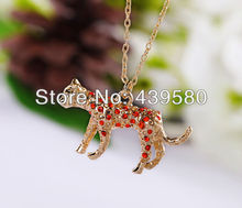 Alloy Fashion Gold Color Leopard Necklace