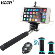 Best Selfie Set with Wired Selfie Stick Bluetooth Control Button and Professional Tripod Extendable Tablet Mobile Phone Holder