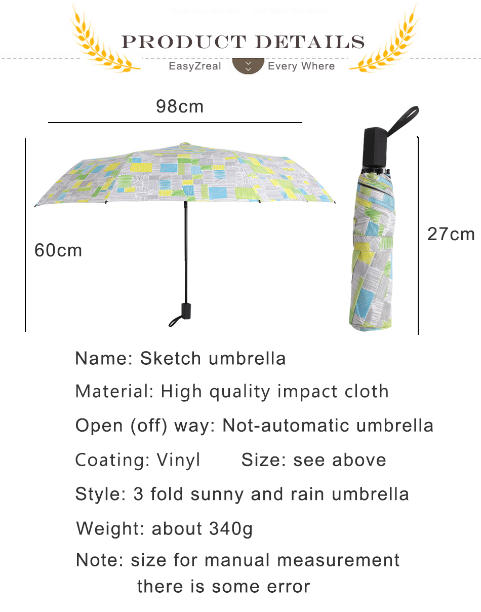 Women Folding Big Umbrellas Female Beach Anti uv Black Coating ...