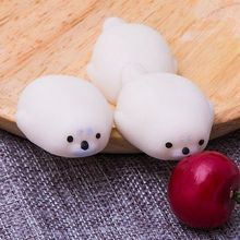 New Adorable Cute White Mini Seal Toy Slow Reduce Pressure Toy 1PCS