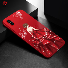 Buy ASINA Ultra Slim Soft Silicone Cases Cover iPhone X Luxury Pattern Shell Cover iphone X Wedding Dress Phone Case for $2.69 in AliExpress store