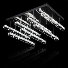 2015 stainless steel crystal ceiling lamps imported K9 crystal ceiling living room LED lamp dimming crystal lamp section