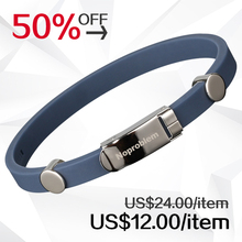 Noproblem negative ion health benifits waterproof wristband scalar energy bracelet far infrared antifatigue choker silicone 023