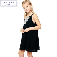 HAYDEN Girls Strap Dress Sleeveless Embroidered Girls Tank Dress Summer 2017 Brand Designer Clothes for Teenager Girls Kids
