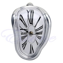Hot Novelty Salvador Style Hanging Clock Surrealist Irregular Melting Wall Clock-F1FB
