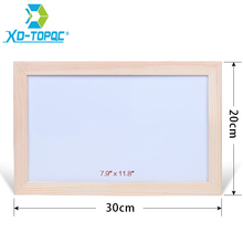 XINDI 20*30cm Dry Erase Whiteboard Original Pine Wood Frame White Board Magnetic Writing Message Board Free Accessories WB40(China)