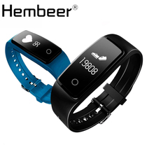 Hembeer S1 Smart Bracelet Heart Rate Monitor Bluetooth Smart Band Fitness Tracker Music control For Android ios PK ID107 ID101