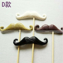 4pcs Photo Booth Props Moustache Wedding Party Polymer CLAY on a Stick 3D SMB 41115421