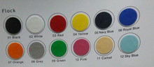 Newest Flocking Heat Transfer Vinyl Film Vinyl Cutter DIY T-shirts 12 Colors for Choosing