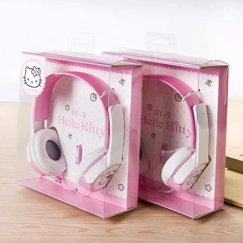 Cute Cartoon Earphones Hello Kitty Headphone Kids Headband Headphones with Mic fone de ouvido for iphone samsung xiaomi