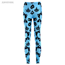 Ropa Gimnasio Mujer Gyms Black Electronic Games Controller Mouse Printed Leggings Fitness Work Out Elastic Runnings Pants Blue(China)