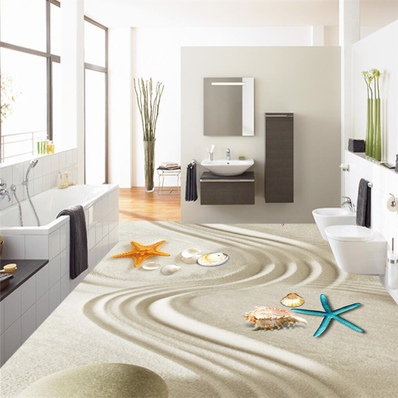 Floor painting HD sand line art bio Waterproof Bathroom kitchen balcony PVC Wall paper Self wall sticker Floor mural wallpaper<br><br>Aliexpress