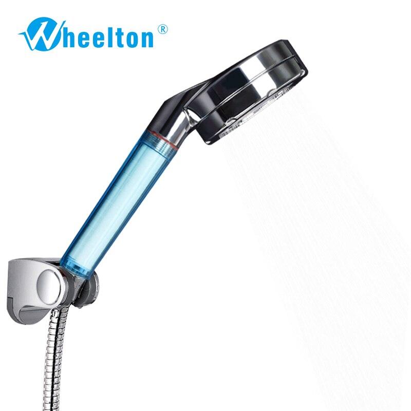 2Pcs/ lot Health bath Anion SPA Shower handle Water-saving Shower Filter Head Bathroom shower water purifier Free Shipping<br><br>Aliexpress