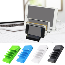 Universal 4-Port Mobile Phone Cell Phone USB Charging Station Dock Stand Organizer for iPhone Samsung Tablet Smart Phone