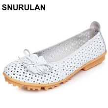 SNURULAN Women'S Flat Shoes Casual Loafers Women Walking Shoes Mocasines De Mujer Moda 2017 Fitness Shoes Zapatos De Cuero Mujer(China)