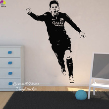 Buy Lionel Messi Barcelona Football Player Wall Sticker Bedroom Boys Room Argentina Soccer Sport Athlete Wall Decal Vinyl Decor for $8.51 in AliExpress store