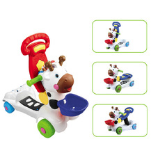 Deerlet 3-in-1 Sit to Stand Baby Walker Learning Zebra Scooter Foldable Baby Walker Push Toy Rider On(China)