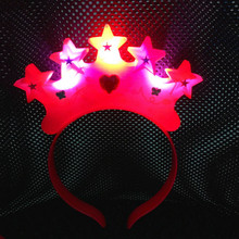 2017 Light up Led Crown Star Headbands Birthday Party Girls Women Hair  Weddings Carnival Birthday Rave Party