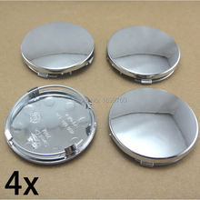 4 PCS 60mm Chrome Wheel Center Hub Cap Without Logo 4B0601170 for A3 A4 A6 A8 S4 S6 RS4(China)