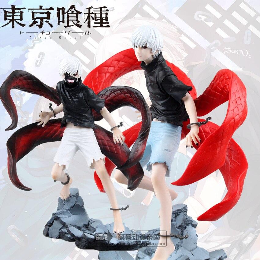 Tokyo Ghoul Figure Kaneki Ken Action Figures Model Toy Cartoon Figuras Anime Kid Toys Pvc Tokyo Ghoul Figure 220mm<br>