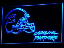 b314 Carolina Panthers Helmet Pub Bar LED Neon Sign with On/Off Switch 20+ Colors 5 Sizes to choose(China)