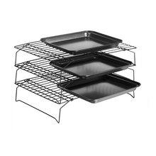 3 Tier Baking Cooling Rack Nonstick Stackable Grid Cooking Cake Pies Bakery Oven(China)