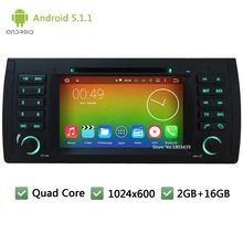 "Quad core WIFI Android 5.1.1 1024*600 7"" Car DVD Player Radio Stereo PC Screen GPS For 5 7 Series X5 E53 E39 E38 M5 Range Rover"