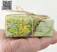 100pcs Travel Theme Map World Candy Box Vintage Kraft Christmas gift Wedding Decoration New Year For Fun Packing