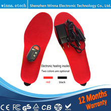 NEW Electric Heated Insole Winter Shoes Boots Pad With Remote Control black RED Foam Material EUR Size 35-46# 1800MAH(China)