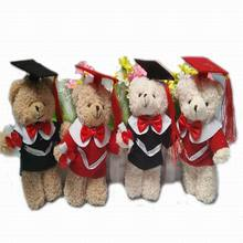 6pc 15cm Cute Teddy Bear Plush Toy Staffed Graduation bear with Docorial Hat Plush Bear Doll Graduation Gfit Brinquedos