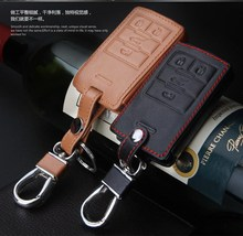 Leather Car Key Cover,Leather key cover case keychain key for Cadillac XTS ATSL SLS CTS XTS Car key