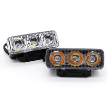 2Pcs/Set 9W Led Turn Signal Car Light With Strobe Work Lams Waterproof DC12V DRL Daytime Running Lights Fog Lamp Free Shipping