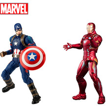 Disney Marvel Toy 7 Inches Iron Man Captain America Action Figures for Children with 20 Joints Boys Xmas Gifts with Box Package(China)
