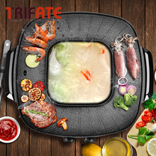 Multifunctional 1900W Electric Pan Grill BBQ Grill Raclette Grill Electric Hotpot With Grill Pan