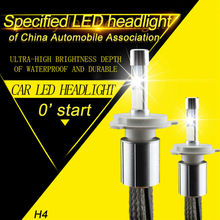 P70 XHP-70 LED Headlight H4 Hi Lo 5000K 6000K Motorcycle Headlight Bulbs 110W 13200LM Automobiles Headlights High bright Kit 12V(China)