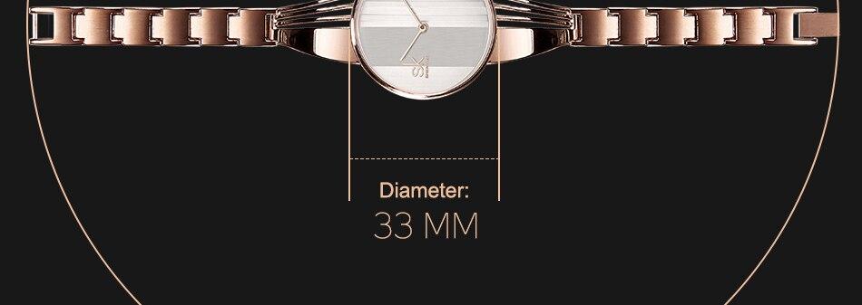 ساعة اليد سوار كوارتز  مطلية بالذهب 11